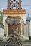 Lange Bien-brug in Hanoi, Vietnam Stock Afbeeldingen