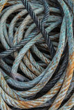Lange blauwe visserijkabel Royalty-vrije Stock Afbeelding