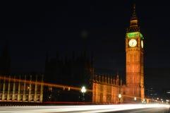 Lange Blootstelling Big Ben Royalty-vrije Stock Foto