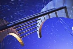 Lange blootstelling over een brug Stock Afbeeldingen