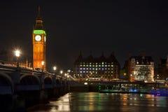 Lange blootstelling van de Brug van de Big Ben en van Westminster Royalty-vrije Stock Foto's