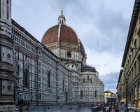 Lange blootstelling van Florence Cathedral stock afbeelding