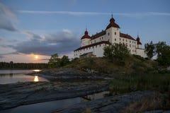 Lange blootstelling van Lacko-kasteel stock afbeeldingen