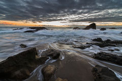 Lange blootstelling van Laguna Beach Royalty-vrije Stock Foto's