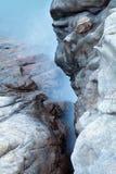 Lange blootstelling van overzees en rotsenachtergrond Royalty-vrije Stock Foto's