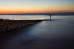 Lange blootstelling van pier Stock Fotografie