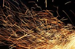 Lange blootstellingsfoto van brand Stock Afbeeldingen