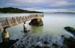 Lange blootstellingsfoto van de Pijler van de Olifantsrots in Tiburon, CA stock fotografie