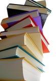 Lange boekstapel Stock Foto