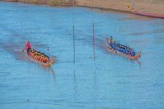 Lange Boot die Thailand rennen Royalty-vrije Stock Afbeelding