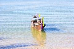 Lange boot in Thailand Royalty-vrije Stock Foto's