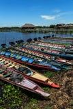 Lange Boote lizenzfreies stockfoto