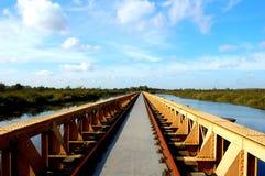 Lange Brücke in der Natur Lizenzfreies Stockfoto