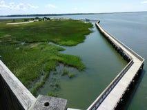 Lange Brücke in Port Royal lizenzfreie stockfotografie