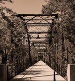 Lange Brücke zu gehen stockbild