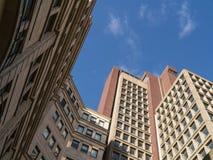 Lange commerciële gebouwen Stock Afbeelding