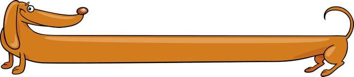 Lange Dachshundhundekarikaturabbildung Lizenzfreies Stockfoto