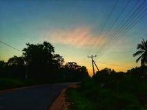 Lange dag met lichte ochtend stock afbeelding