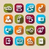 Lange de telefoon stelt pictogrammen in de schaduw Royalty-vrije Stock Fotografie