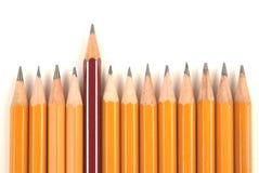 Lange en korte potloden Stock Fotografie