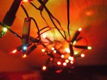 Lange en multi gekleurde lichte ketting Stock Foto