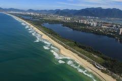 Lange en prachtige stranden, Recreio-het strand van Dos Bandeirantes, Rio de Janeiro Brazil royalty-vrije stock foto's