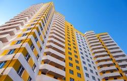 Lange flatgebouwen in aanbouw Royalty-vrije Stock Foto