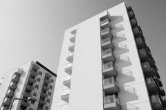 Lange gebouwen Stock Foto
