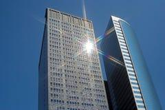 Lange gebouwen Royalty-vrije Stock Fotografie