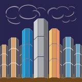 Lange gebouwen Royalty-vrije Stock Afbeelding