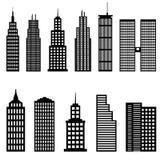 Lange gebouwen en wolkenkrabbers Royalty-vrije Stock Afbeelding