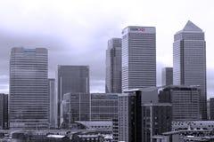 Lange gebouwen in Londen Stock Foto's