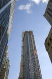 Lange gebouwen in New York stock afbeeldingen