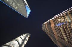 Lange gebouwen in Shanghai royalty-vrije stock fotografie