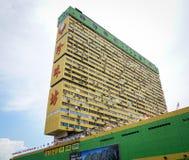 Lange Gebouwen in Singapore Stock Foto's