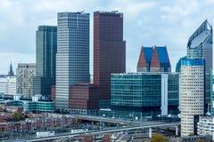 Lange gebouwen van Den Haag, Nederland Stock Fotografie