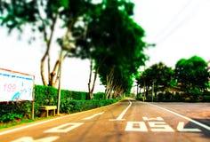 Lange gerade Straße Lizenzfreies Stockbild