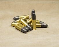 Lange geweer Rimfire Munitie Stock Foto