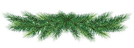 Lange Girlande von Weihnachtsbaumasten Auch im corel abgehobenen Betrag lizenzfreie abbildung