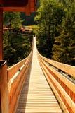 Lange hölzerne Aufhebungbrücke Stockbilder