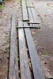 Lange hölzerne Planken Lizenzfreies Stockfoto