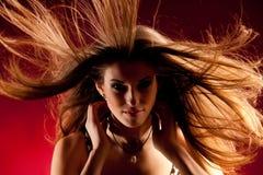 Lange haar en wind royalty-vrije stock foto's