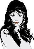 Lange Haarabbildung der schönen Frau Lizenzfreies Stockfoto