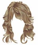 Lange Haare der modischen Frau brünieren blonde beige Farben Schönheit f vektor abbildung