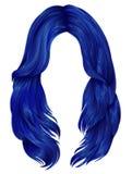 Lange Haarfarben der modischen Frau Schönheitsmode realistisch vektor abbildung