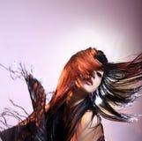 Lange Haarfrau lizenzfreies stockfoto