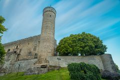 Lange Hermann-toren, het symbool van de Estlandse onafhankelijkheid van ` s royalty-vrije stock fotografie