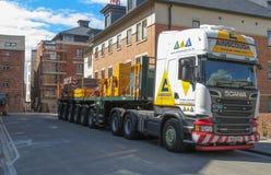 Lange het voertuigvrachtwagen van Scania Stock Foto's