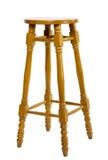 Lange houten stoel Stock Afbeelding