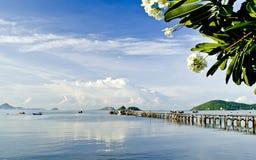 Lange Houten Visser Bridge Sattahib Thailand Royalty-vrije Stock Fotografie